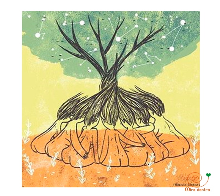 mujeres árbol